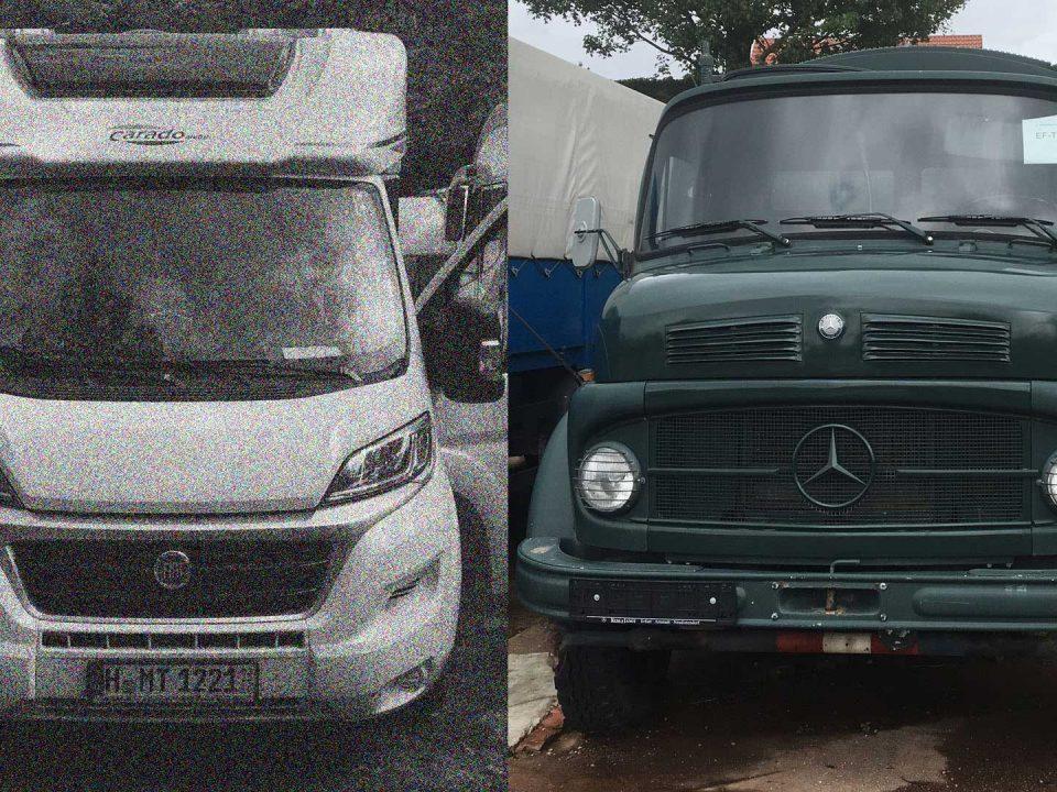 Carado T348 vs Mercedes LA911 Kurzhauber